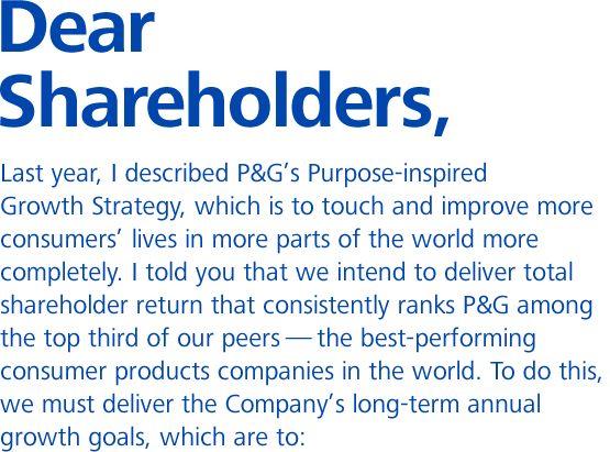 P&G 2011 AR: Shareholder Letter, Fiscal 2011, Business Intelligence