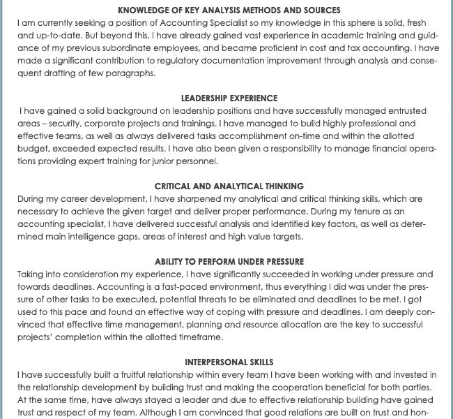 Shining Skills And Abilities Resume Examples 4 KSAs Sample - CV ...