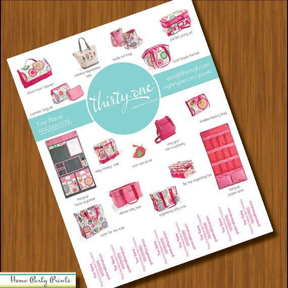 Thirty-One Tear Away Flyer for Consultants Etsy listing at https ...