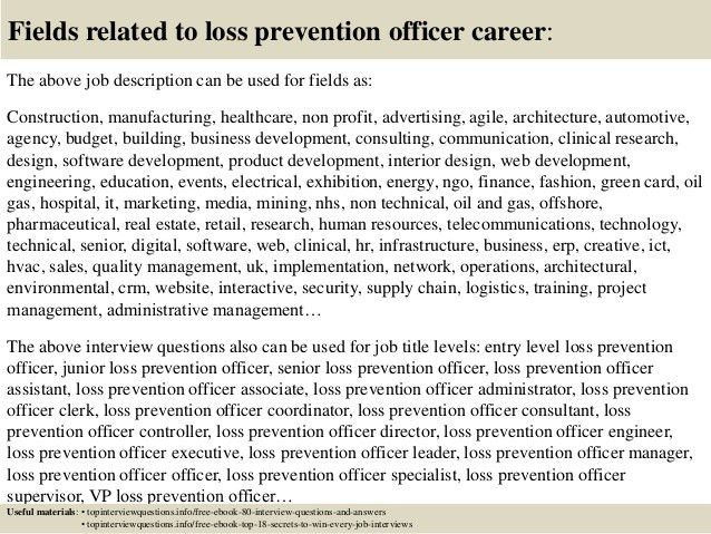 Top 10 loss prevention officer interview questions and answers