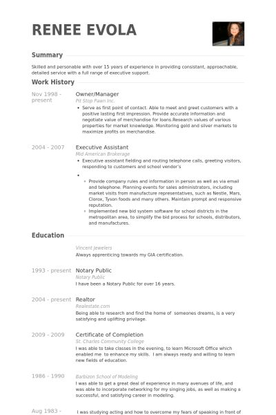 Owner/Manager Resume samples - VisualCV resume samples database