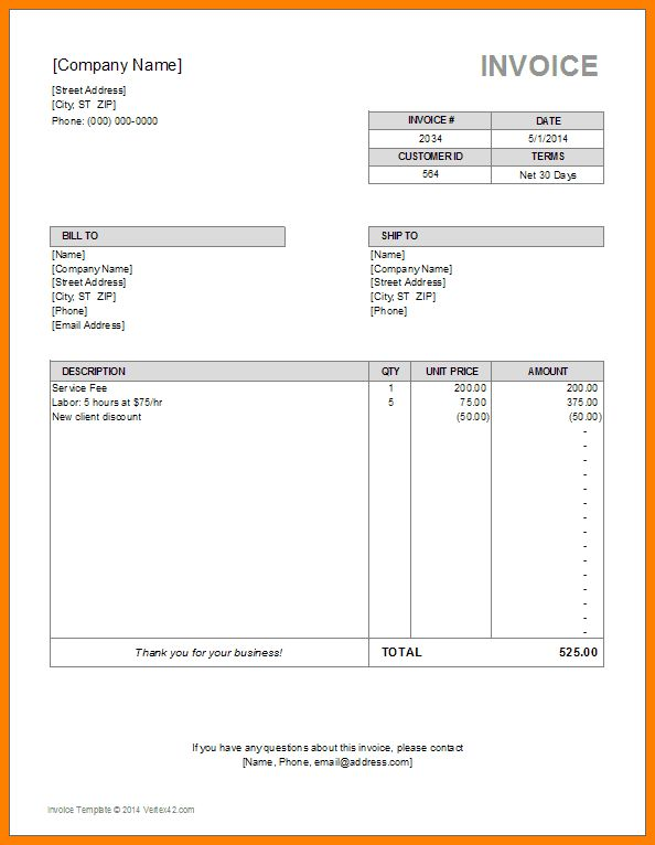 11+ invoice bill format in excel | ledger paper