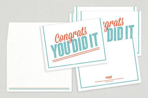 Fun Vintage Congratulations Greeting Card Template | Inkd