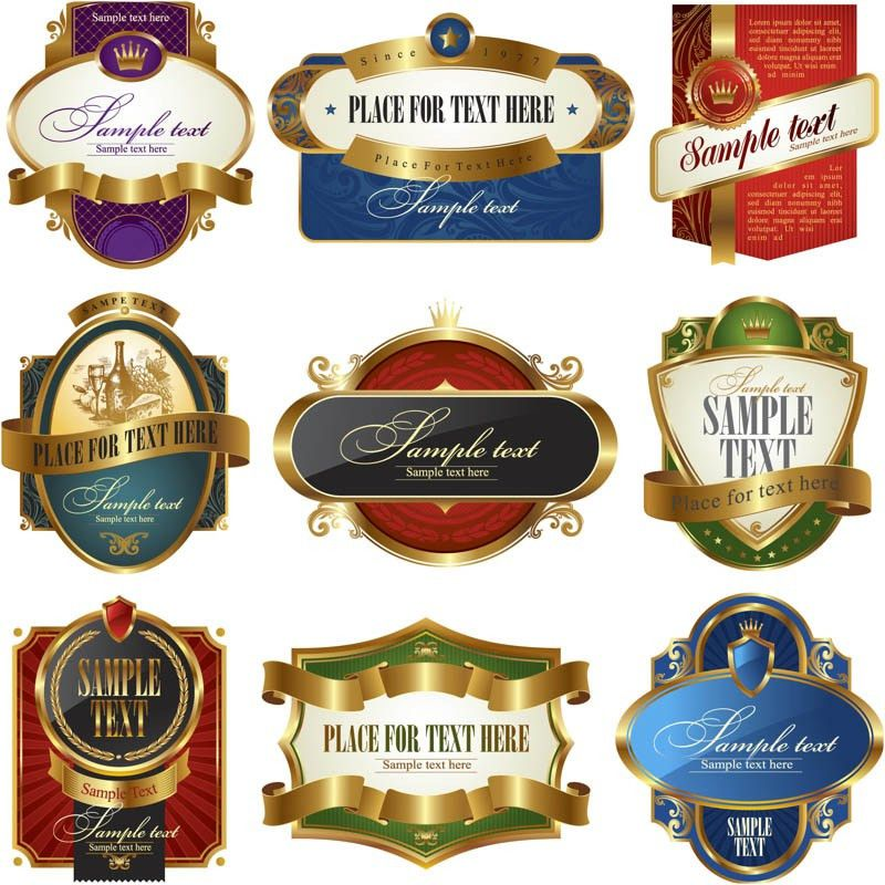 Classic style product labels vector | Vector Graphics Blog