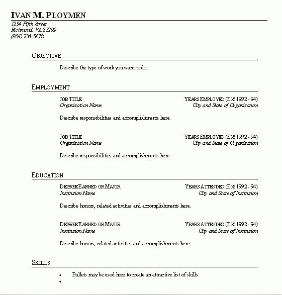 quick easy resume builder resume cv cover letter. fill in the ...
