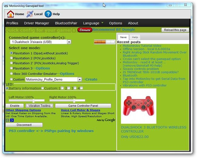How to Use a PS3 Controller as a Joystick for Your Windows PC