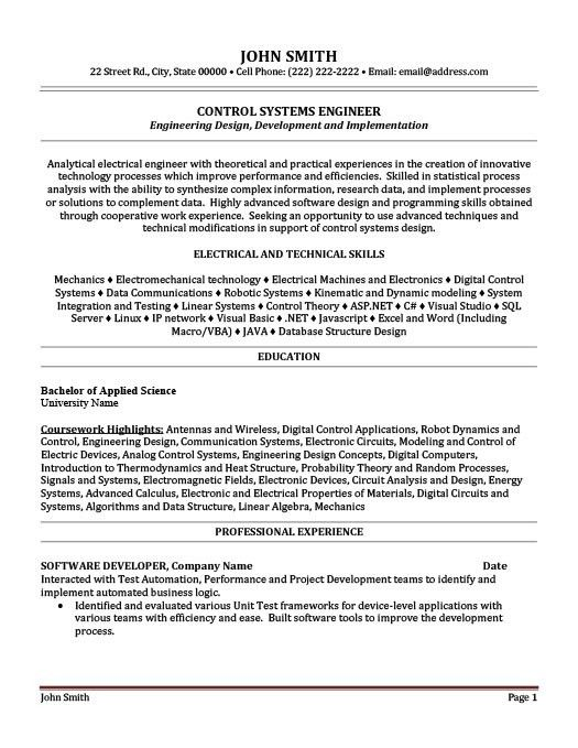 Download Information Systems Engineer Sample Resume ...