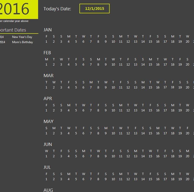 Excel Calendar | Excel Calendar Templates