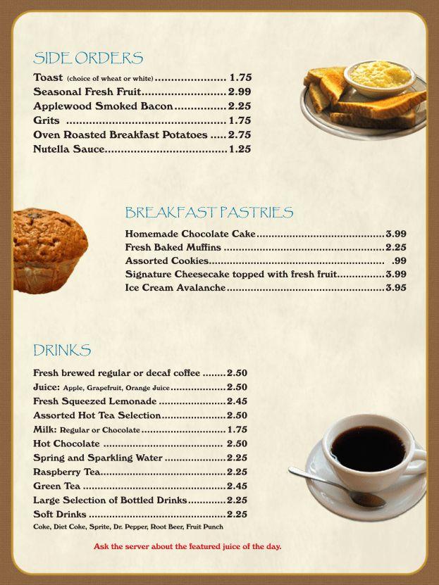 Breakfast Menu Template english breakfast menu template stock ...