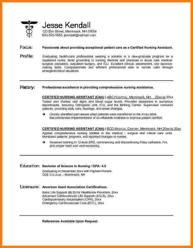 cna resume | cna resumed