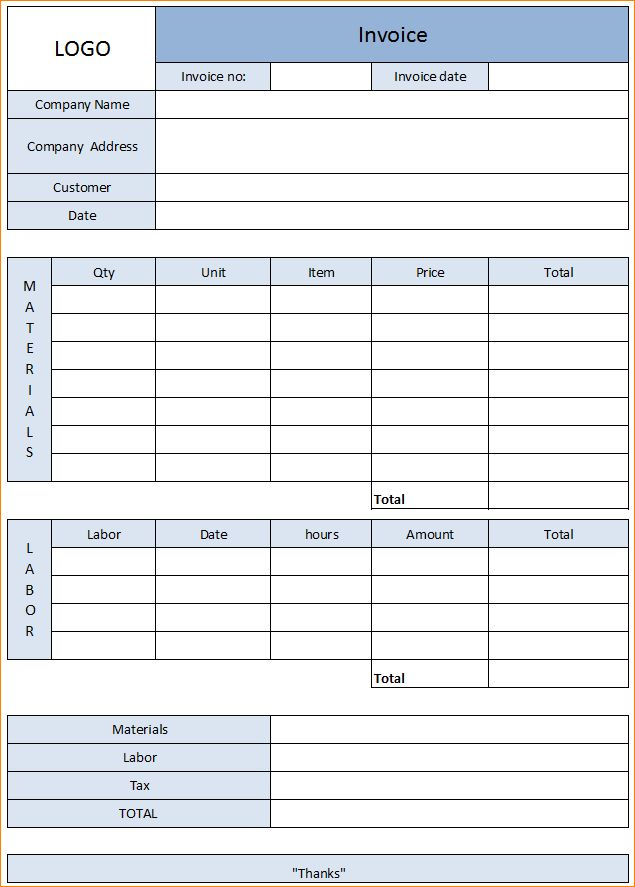 7+ service invoice template | Outline Templates