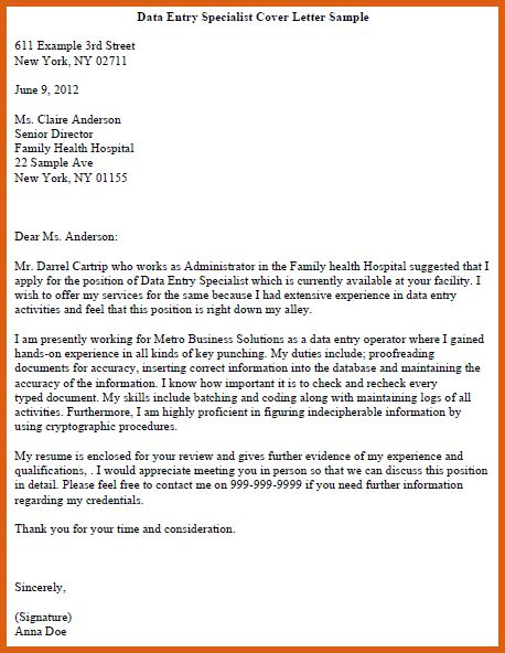 online cover letter format   apa examples