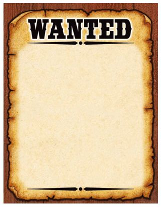 Wanted Poster Templates - Cazenovia Middle School Art