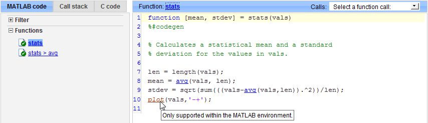Extrinsic Functions - MATLAB & Simulink