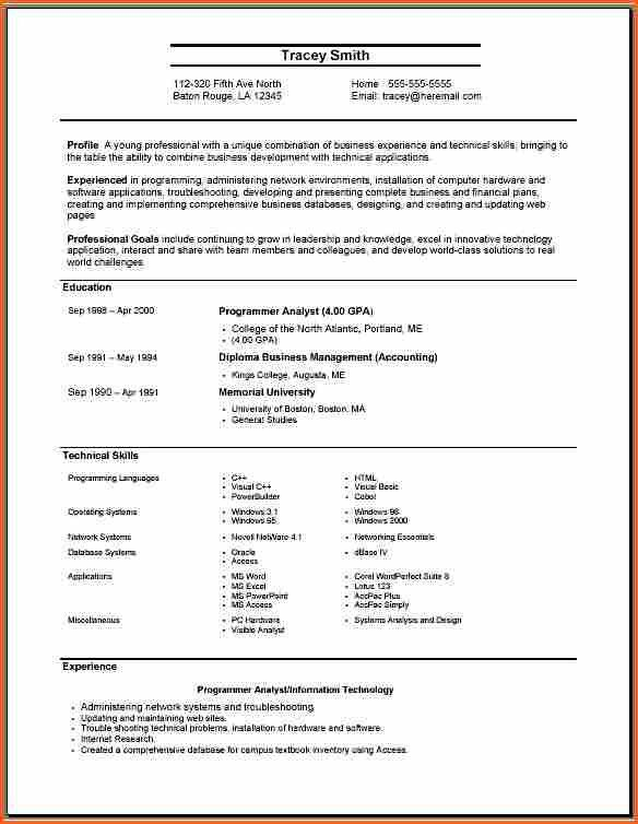 Example Of Resume For Applying Job. First Job Resume Template ...