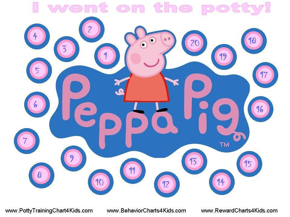 Peppa Pig Potty Training Chart for Ashley | Places to Visit ...