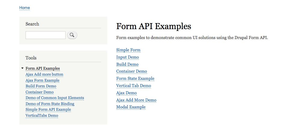 Reordering the sub-demos for Form API Example [#2840529] | Drupal.org