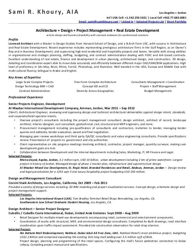 Principal Architect Cover Letter