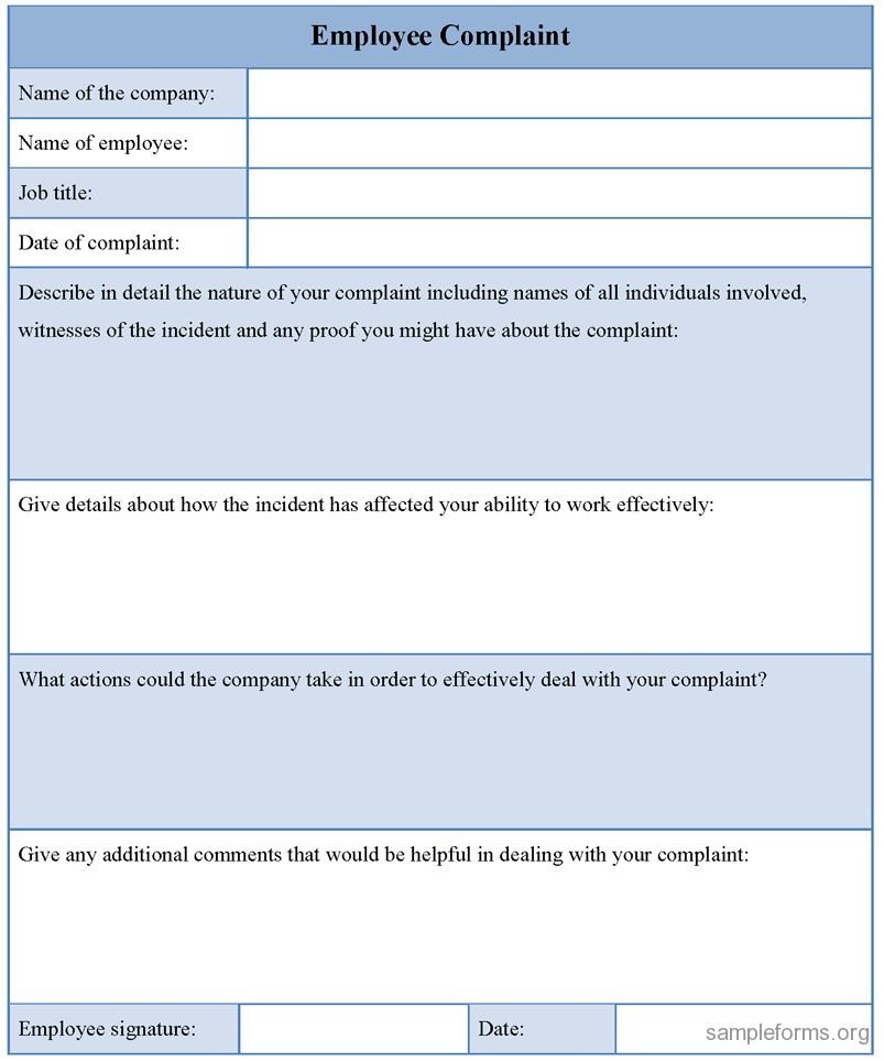Complaint Form Template | rapidimg.org