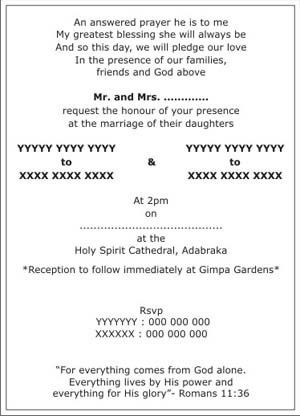 Wedding Invitation Wording In English Pdf ~ Matik for .