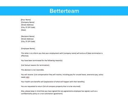 Layoff Letter - Easy to Use Sample Template