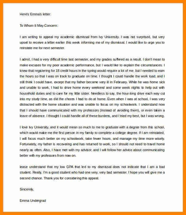 3+ example of appeal letter for dismissal | job resumed