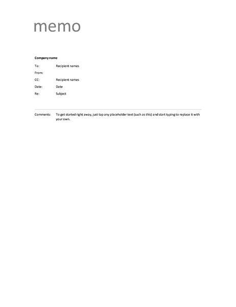 Memo (simple design) - Office Templates