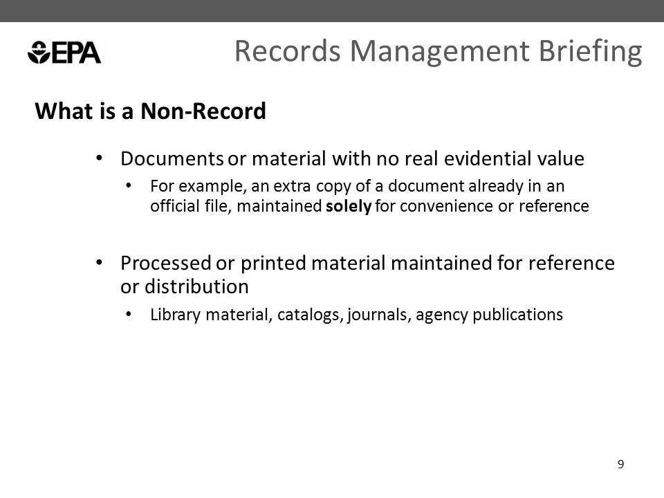 Records Management Briefing - ppt download