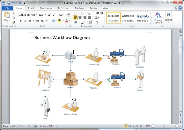 Workflow Diagram Templates for Word