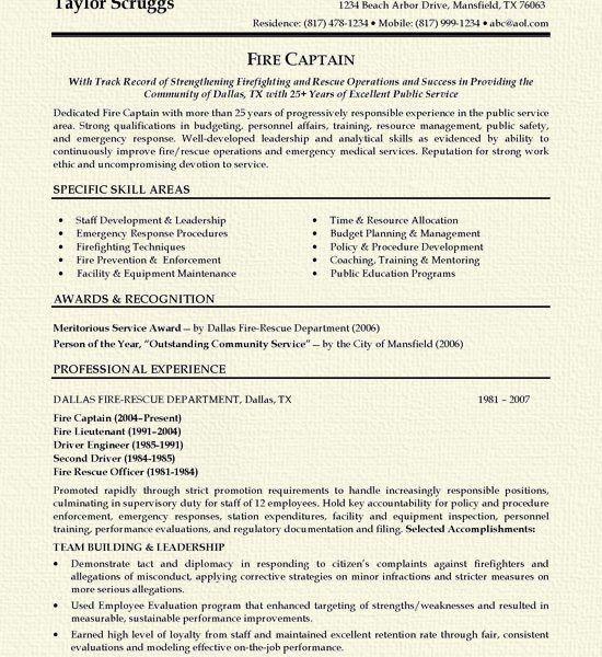 Firefighter Resume Templates. Volunteer Firefighter Resume ...