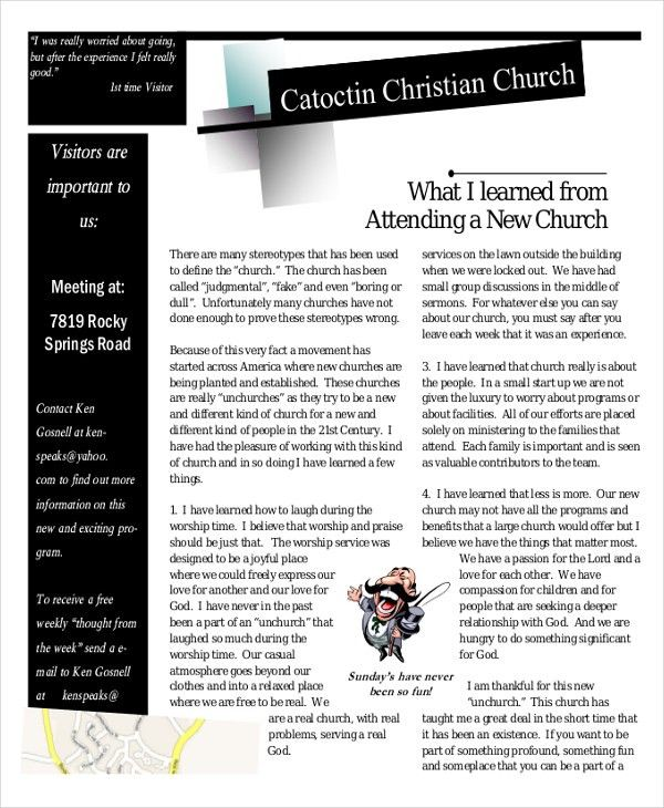 Newsletter Template – 17+ Free Word, PDF Documents Download | Free ...