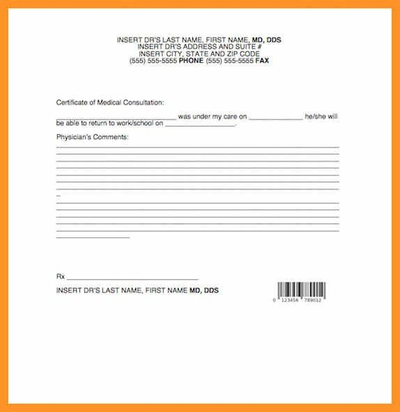 doctors note for sick leave template | bio letter format