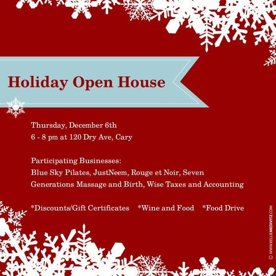 Holiday Open House Invitations Template | Best Template Collection
