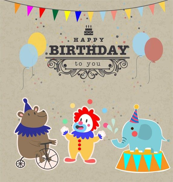 Vintage birthday invitation template free vector download (19,236 ...