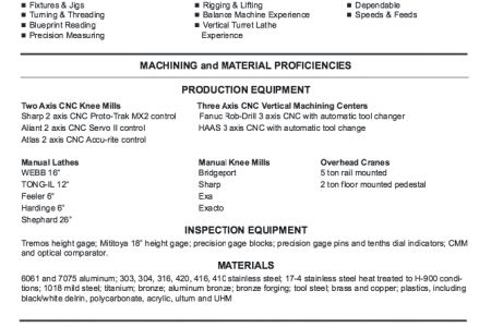 cnc machinist resume examples entry level machinist resume ...
