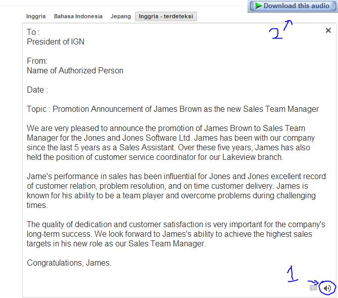 7 Best Images of Sample Promotion Announcement Memo - Job ...