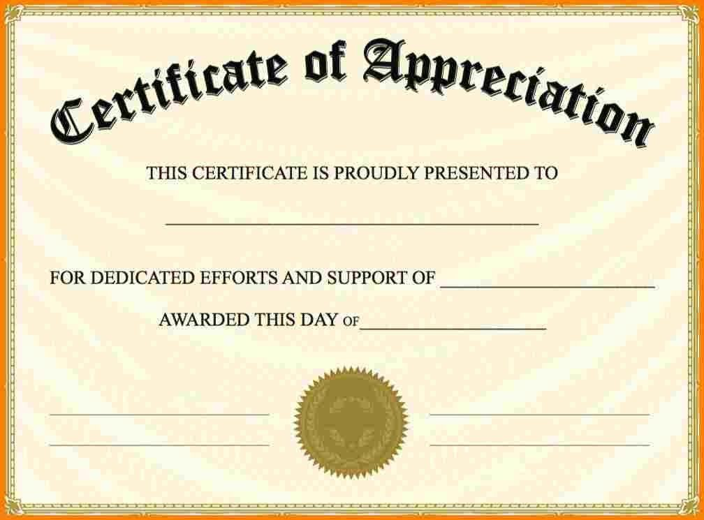 10+ free certificate of appreciation templates for word | sample ...