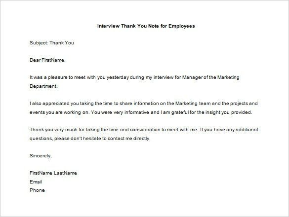 Thank You Letter To Employee – 10+ Free Sample, Example Format ...