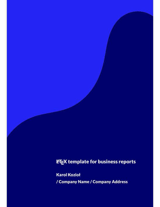 Business report (version 2) - LaTeX Template - ShareLaTeX, Online ...