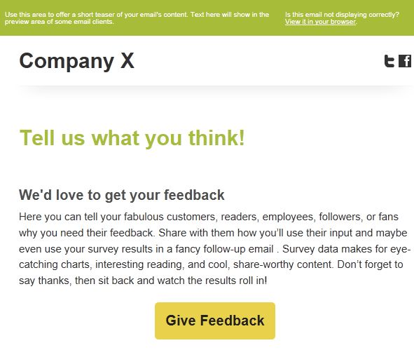 Survey Invitation Email Template - Themesflip.Com