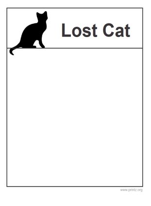 7 Best Images of Lost Cat Flyer Template Free - Lost Pet Flyer ...