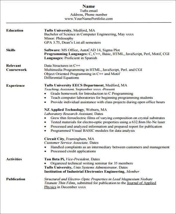 23+ Engineering Resume Templates in PDF | Free & Premium Templates