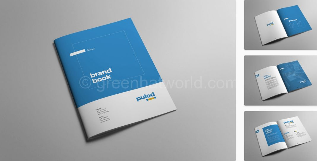 Download Minimal Brand Book PSD Template Free