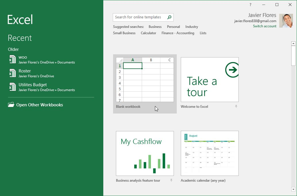 Excel 2016: Getting Started with Excel - Full Page