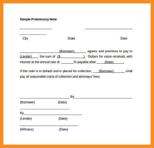 4+ promissory note template | resume setups