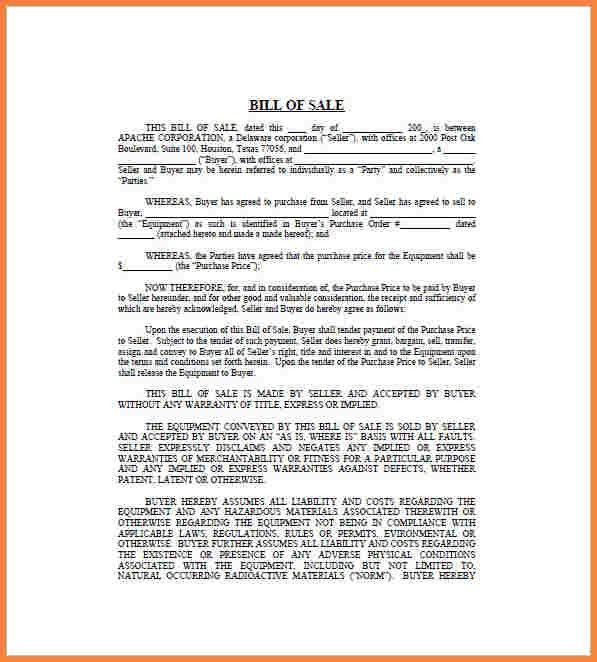 Business Bill Of Sale Form. Free Cars Bill Of Sale Forms That ...