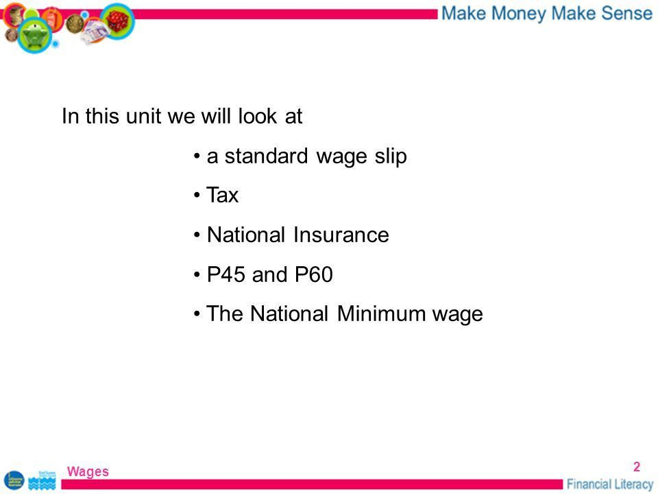 WAGES Eastbourne Citizens Advice Bureau Financial Literacy Wages ...