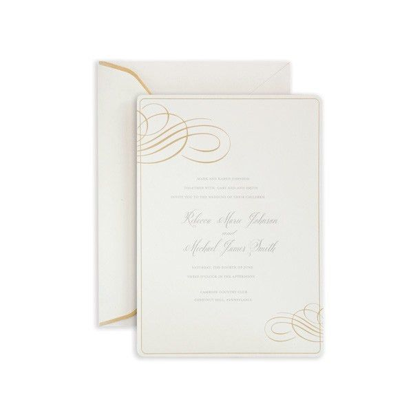 FORMAL GOLD FOIL SWIRL INVITE 25CT | Gartner Studios