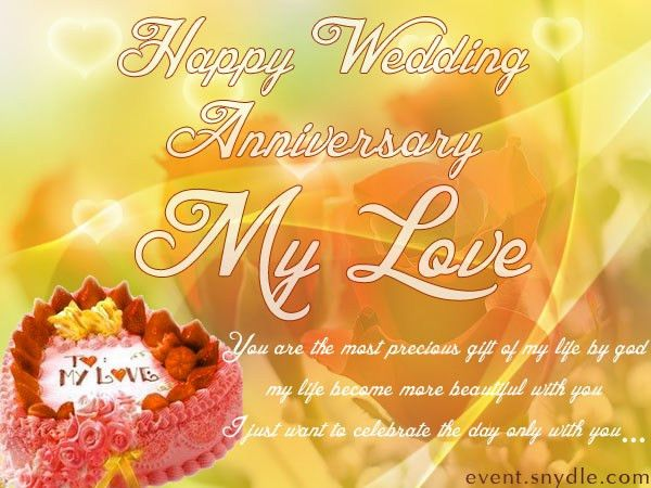 wedding anniversary card for husband with simple words | Sang Maestro