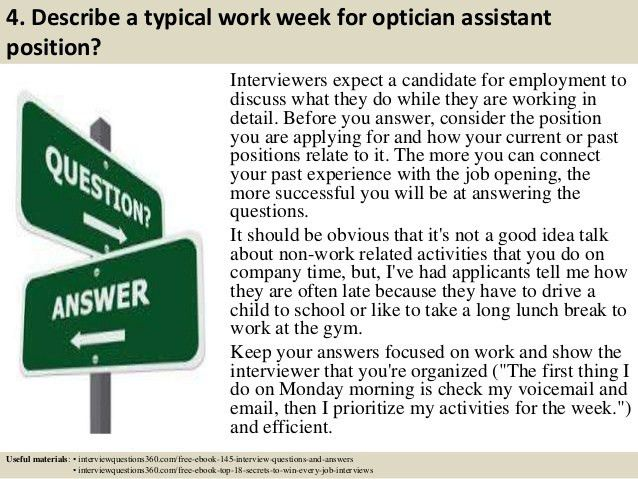 Top 10 optician assistant interview questions and answers
